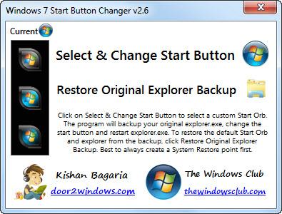 Windows 7 Start Button Changer v 2 6 - 24 Августа 2010